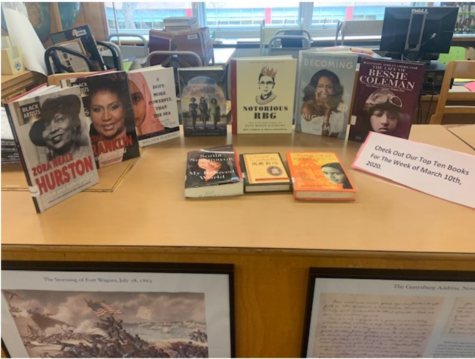 Mount Vernon High School Schoology Weekly Books Highlights  The Women History Month Series
